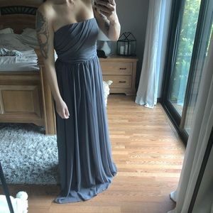 Alfred Angelo charcoal bridesmaid dress/prom dress